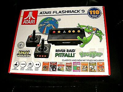 Atari Flashback 9 Console 110 Built In Video Game Frogger Pitfall Space Invaders