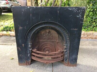 Antique Cast Iron Fire Insert
