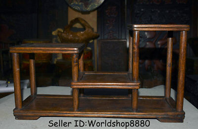 "17.2"" Antique Old China Huanghuali Wood Dynasty Shelf Base Decoration Statue"