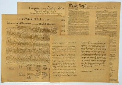 Facsimile Historical US Documents - Constitution, Bill of Rights, Declaration...