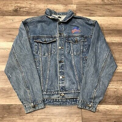Vintage Planet Hollywood Women's Sz M Fitted Jean Jacket Coat