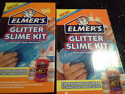Elmer's Glitter sSLIME KIT- Glue 3 PC KIT -Lot of 2 boxes