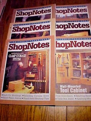 SHOP NOTES MAGAZINE TIPS-TOOLS-TECHNIQUES Vol. 4 - 6 Issues 19-24 1995Woodsmith