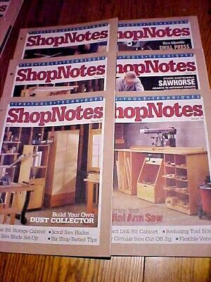SHOP NOTES MAGAZINE TIPS-TOOLS-TECHNIQUES Vol. 3 - 6 Issues 13-18 1994Woodsmith