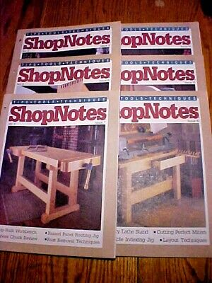 SHOP NOTES MAGAZINE TIPS-TOOLS-TECHNIQUES Vol. 2 - 6 Issues 7-12 1993Woodsmith