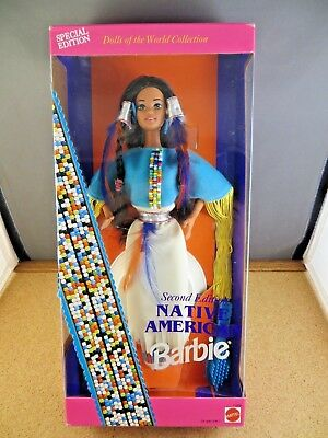Special Native American Barbie Doll 2nd Edition Dolls Of the World 11609 Mint