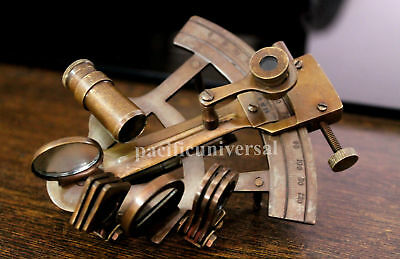 Solid Brass Nautical Sextant Lab Equipment Handmade Gift.
