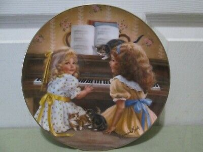 """Afternoon Recital"" Collector Plate By Sandra Kuck. Numbered. Nice."