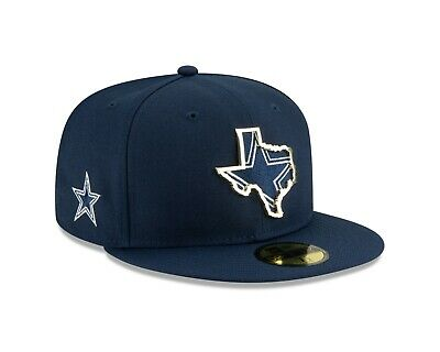 Dallas Cowboys New Era 2019 NFL NT State Metal Badge 59FIFTY Fitted Hat - Navy