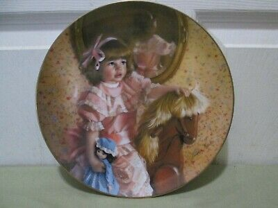 """Amy's Magic Horse"" Collector Plate By Sandra Kuck. Numbered. Nice."