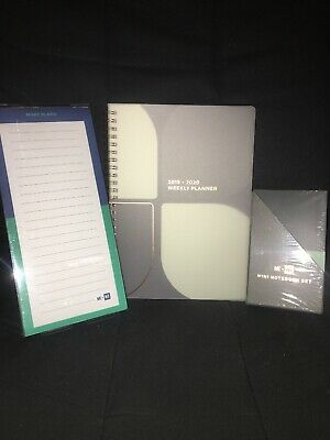 Lot Of 3 ME to WE Planner 2019-2020 Grey Magnetic List Pad Mini Notebook Set NEW