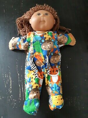 Homemade Cabbage Patch Doll Jungle Animals Coverall Pyjamas