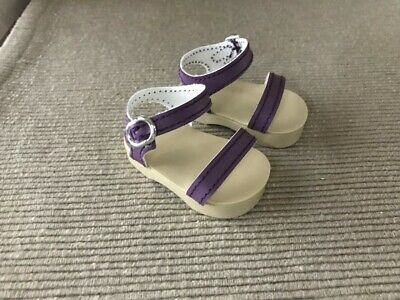 "American Girl Blaire's purple sandals shoes from Meet outfit New 18"" doll"