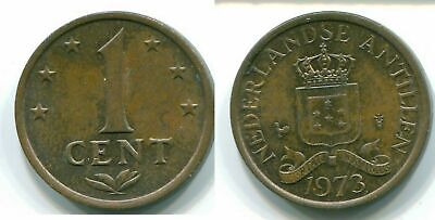 1973 NETHERLANDS ANTILLES 1 CENT Bronze Colonial Coin #S10650E