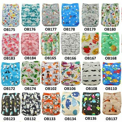 10pcs/Lot Baby Nappies Adjustable Reusable Diaper Cover One Size Couche Lavable