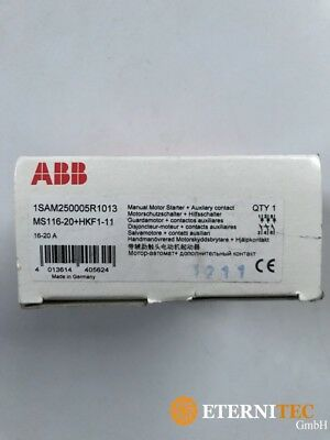 Abb 1SAM250005R1013 MS116-20+HKF1-11 Motor Protection Switch + Auxiliary New
