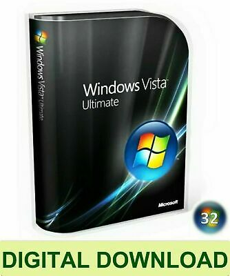 Windows Vista Ultimate 32 Bit Re-Install Repair Recovery ISO Digital Download