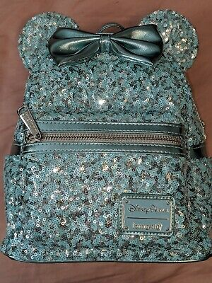 Disney Parks Frozen Arendelle Aqua Loungefly Backpack Purse Bag New 2019