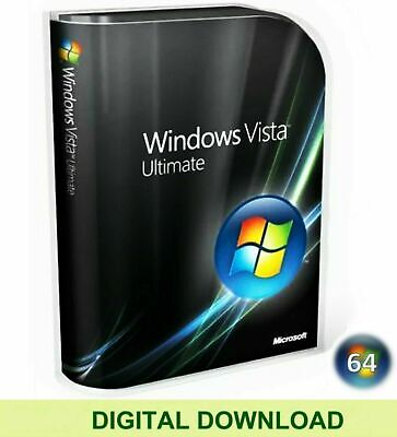 Windows Vista Ultimate 64 Bit Re-Install Repair Recovery ISO Digital Download