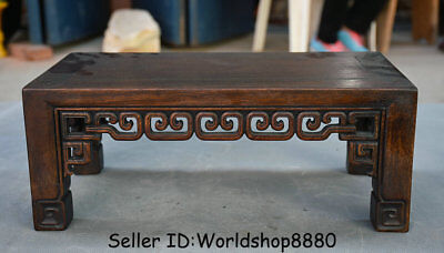 """15.2"""" Antique Old Chinese Huanghuali Wood Carved Dynasty Table Desk Furniture"""