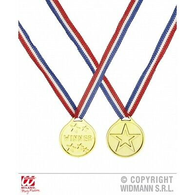 Winners Gold Medal Olympic Athletic Fancy Dress Accessory Sports Day - One Medal