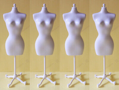 "4 PCS White Stands / Display For 11.5"" Doll or similar size dolls / toys -  S6"