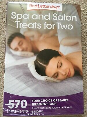 red letter days voucher spa and salon treatments for two