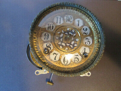 1910 Antique Ingraham Mantel Clock Movement Working With Original Dial (520A)