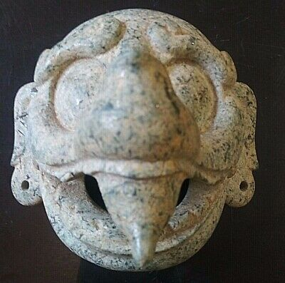 Maya Early Classic Speckled Jade Chac Mask Documented