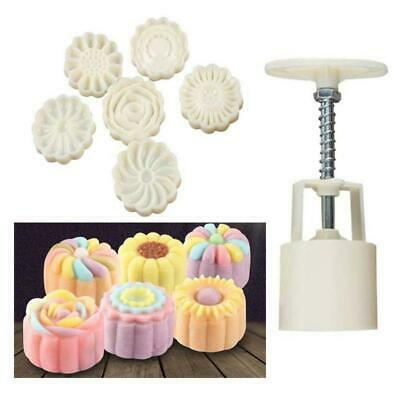 3D 6Style Stamps Round Letter Moon Cake Mold Mould Set Decor Mooncake SH Wh C2P2