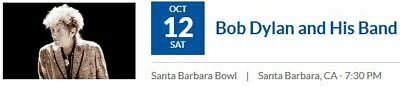 2 Tickets For Bob Dylan At Santa Barbara Bowl On 10/12/19
