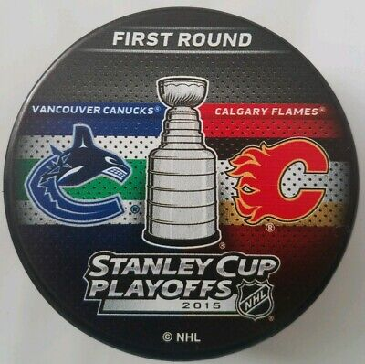 2015 Stanley Cup Playoffs Vancouver Canucks Vs Calgary Flames First Round Puck