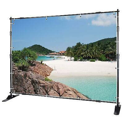 Voilamart 10FT X 8FT Backdrop Banner Stand Adjustable Step And Repeat Heavy Duty