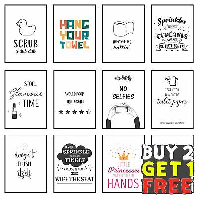 Funny Bathroom Prints Framed Bathroom Wall Art Toilet Pictures Home Décor Poster