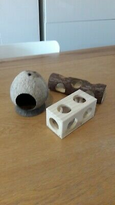 Selection of Wooden Hamster/ Gerbil activity toys