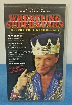 Wrestling Superstars Before They Were Famous VHS WWE WCW Jerry Lawler PAL