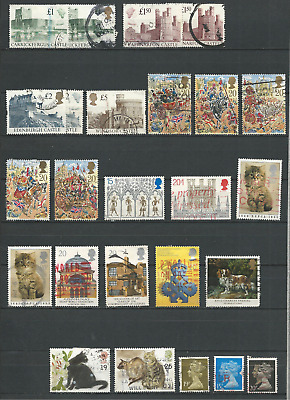 Great Britain Small Collection Lot of 25 Used Stamps - CV$33.45