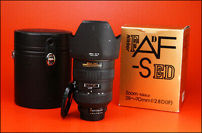 Nikon AF-S 28-70mm f/2.8D Manual Focus Lens With Both Caps, Hood & Case & Box