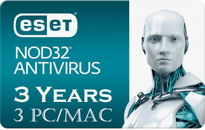 2020 ESET NOD32 Antivirus - 3 Computers 3 years - Instant Delivery