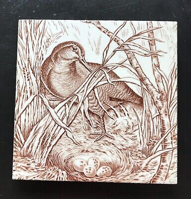 Wedgwood Tile From The Fresco Bird Series C 1876