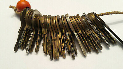 Lot of 35 Common Vintage Antique Master Padlock Keys Variety of Brands USA