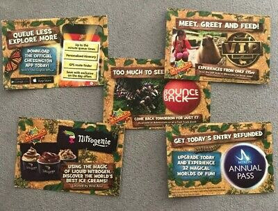 Mon 7th OCTOBER 5 X Chessington World Of Adventures TICKETS Full Free Entry
