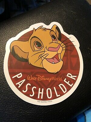 2019 Walt Disney World Annual Passholder Simba  Magnet Animal Kingdom Sold out!