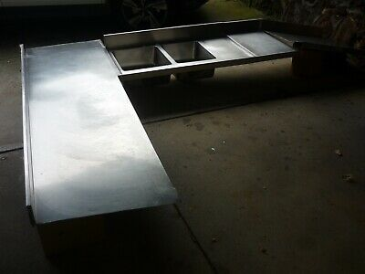 Stanless Steel Bench Top with Sinks
