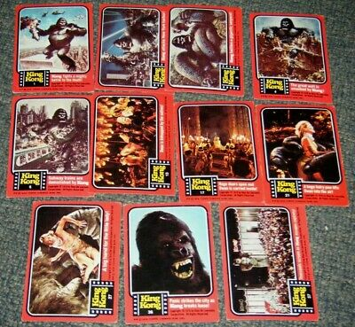 Vintage 1976 Scanlens Topps King Kong Cards