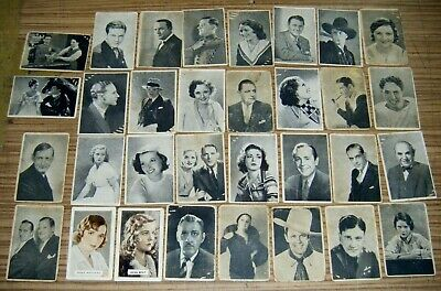 Vintage Lot Giant Licorice Cigarettes Movie Star Collector Cards