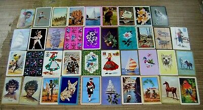 Vintage Swap Cards Lot - Coles Blank Backs / Playing Cards / Golden Fleece etc