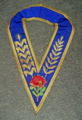Vintage c1920's Masonic Regalia Collar with Waratah & Corn