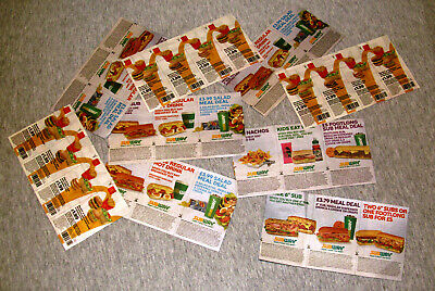 Subway/McDonald's coupons for meal deals 9x