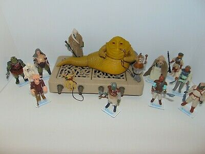 Vintage Star Wars action figures, Jabba the Hutt + 11 goons, most complete!